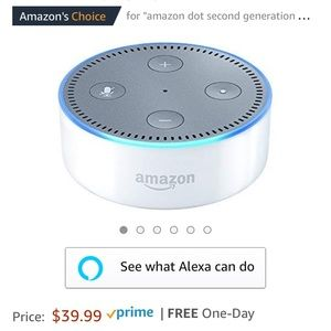 New and sealed white echo dot